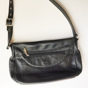 Stone & CO • Genuine Grained Leather Shoulder Bag
